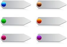 buttons glansig rengöringsduk Arkivfoto
