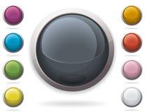 buttons glansig rengöringsduk Royaltyfri Fotografi