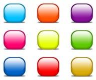 buttons glansig website Royaltyfri Fotografi