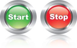 buttons glansiga symboler som trevliga par Arkivfoton