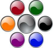buttons glansigt vektor illustrationer