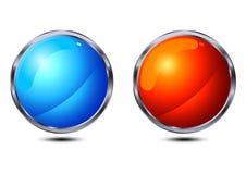buttons glansigt Royaltyfri Bild
