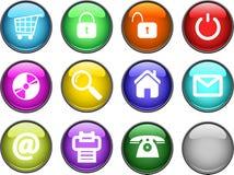 buttons glansigt Arkivbild