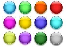 buttons glansigt Arkivfoto