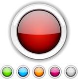 buttons glansigt Arkivbilder