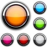 buttons glansigt Royaltyfria Bilder