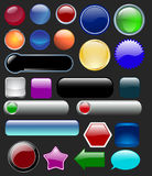 buttons glansigt Royaltyfri Fotografi