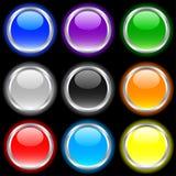 buttons glansigt royaltyfri illustrationer