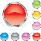 buttons glansigt rundat Royaltyfri Foto