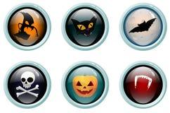 buttons glass halloween Royaltyfri Fotografi