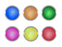 Buttons with globes Royalty Free Stock Photo