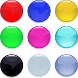 Buttons, glossy web. Color illustration stock illustration
