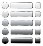 buttons grå lång rengöringsduk Royaltyfri Fotografi