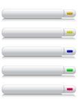 buttons grå rengöringsduk stock illustrationer