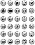 buttons grå symbolsrengöringsduk Arkivbilder