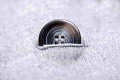 Buttons on the gray coat Royalty Free Stock Photography