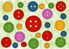 Colored buttons. Colorful background. Craft royalty free illustration