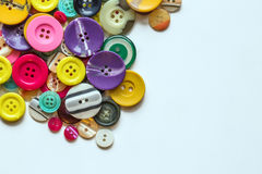 Buttons. Group of colorful buttons isolated on white background Stock Photo