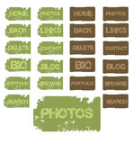 buttons grunge Arkivfoto