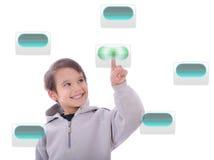 buttons gulligt digitalt för barn little tryckande på touc royaltyfri foto