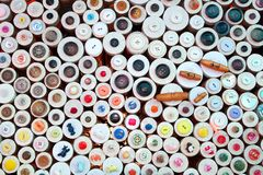 Buttons in haberdashery retail shop Stock Photography