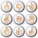Buttons with Hands Stock Photos