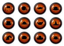 buttons hatten Royaltyfri Fotografi
