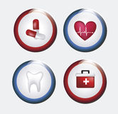 Buttons healthy Royalty Free Stock Photo