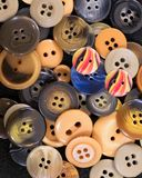 Large group of plastic buttons royalty free stock photos