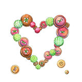 Buttons heart stock illustration