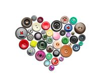 Buttons heart Royalty Free Stock Photos