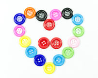 Buttons heart shape with background Stock Photo