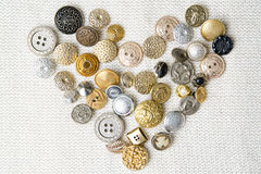Buttons heart shaped Royalty Free Stock Image