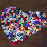 Buttons heart shaped Stock Image