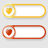 buttons with heart Royalty Free Stock Photos