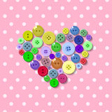 Buttons. Heart. Valentine Stock Photography
