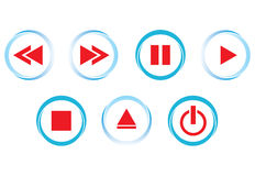 Buttons of hi-fi, vector Stock Image