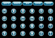 buttons hjälterengöringsduk Royaltyfri Fotografi