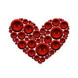 buttons hjärta Royaltyfri Foto