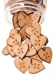 buttons hjärta Royaltyfria Foton