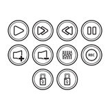 Buttons icon set Royalty Free Stock Images