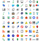 Buttons and icons 08.12.12. Mega collection of colored buttons and icons for designers to different necessities on a white background Vector Illustration