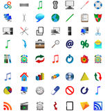 Buttons and icons 12.11.12 Royalty Free Stock Image