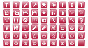 Buttons-Icons Stock Images