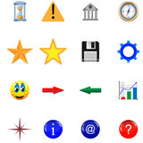 Buttons and icons 21.11.12 Royalty Free Stock Image