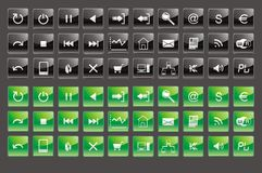 Buttons and icons Stock Photos