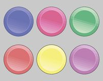 Buttons icons. Set of icons on a theme buttons Stock Images