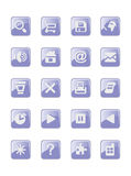 Buttons with icons Stock Photography