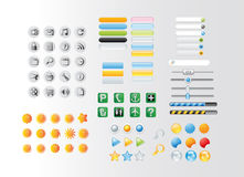 Buttons and icons Royalty Free Stock Image