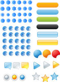 Buttons and icons. Web buttons and icons in white background Stock Photography